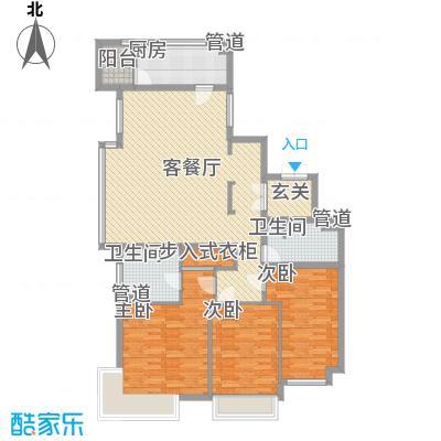 总部经济园二期158.00㎡三户型3室2厅2卫1厨