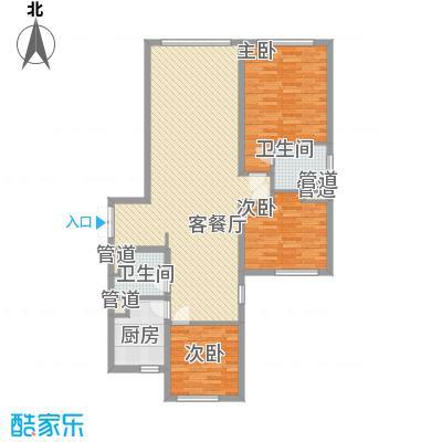 总部经济园二期135.00㎡户型3室2厅2卫1厨
