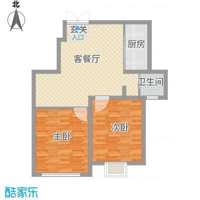 苏源聚福园86.30㎡1号楼D户型2室1厅1卫1厨