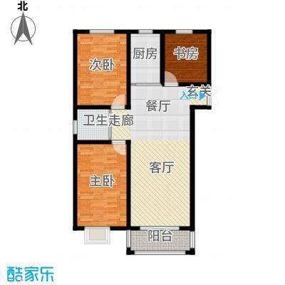 苏源聚福园122.70㎡3、5号楼HI户型3室2厅1卫1厨