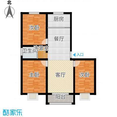 苏源聚福园138.40㎡1、4号楼M户型3室2厅1卫1厨