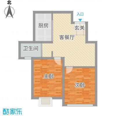 苏源聚福园84.40㎡1号楼A1户型2室1厅1卫1厨