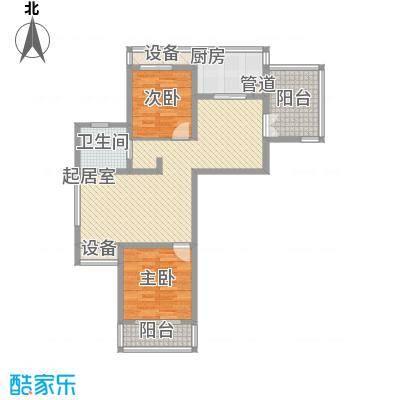 海泰尚城国际112.00㎡二期高层A户型2室2厅1卫