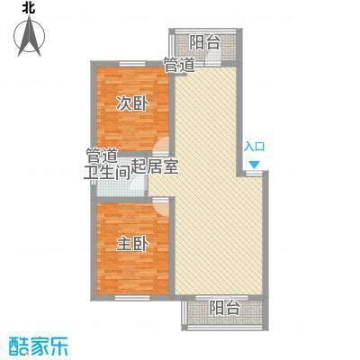 馨合佳园2.20㎡-户型2室2厅1卫1厨