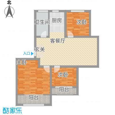 工人新村F户型3室1厅1卫1厨