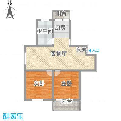 工人新村E户型2室1厅1卫1厨