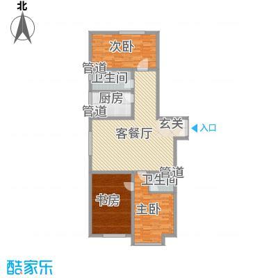 胜源滨河新城二期・泰茂天地161.20㎡B户型3室2厅2卫1厨