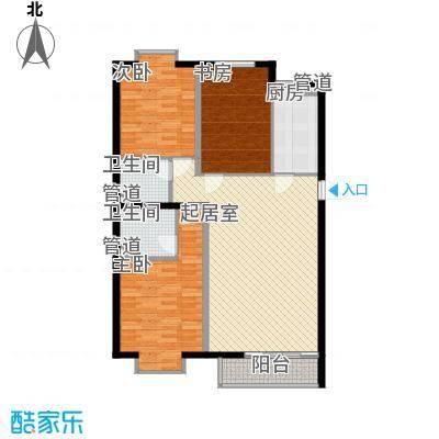3克拉138.00㎡E户型3室2厅2卫1厨