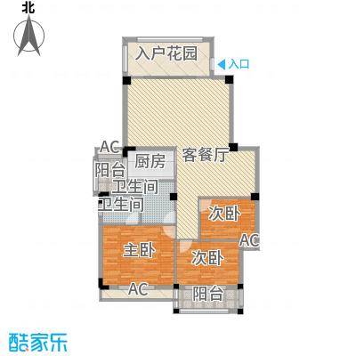 盛祥现代城12.21㎡19#A户型3室2厅2卫1厨
