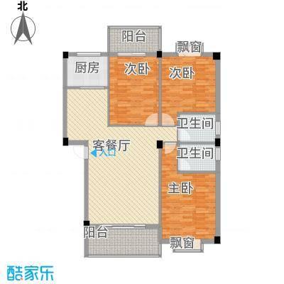 盛祥现代城114.10㎡25#楼A户型3室2厅2卫1厨
