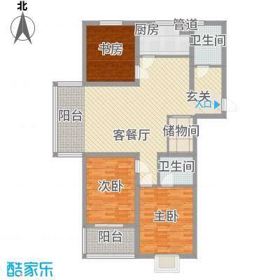 建院未来城13.88㎡E座F座H户型3室2厅2卫1厨