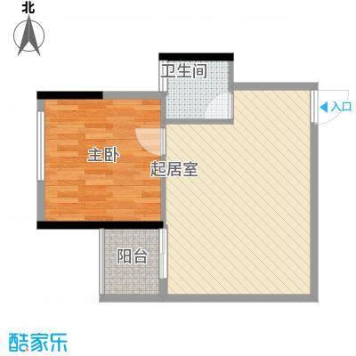 桂林独秀苑55.80㎡12栋B户型1室1厅1卫1厨