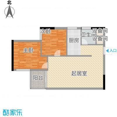 桂林独秀苑83.61㎡3栋B户型2室2厅2卫1厨