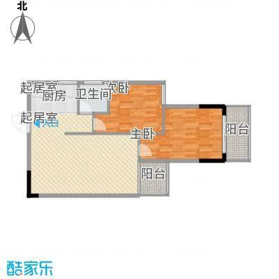 桂林独秀苑84.80㎡13栋E户型2室2厅1卫1厨