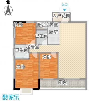 桂林独秀苑115.70㎡9栋B户型3室2厅2卫1厨