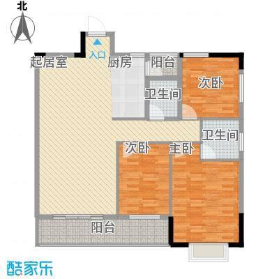 桂林独秀苑115.70㎡9栋B1户型3室2厅2卫1厨