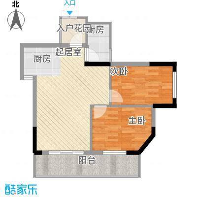 桂林独秀苑73.41㎡3栋D户型2室2厅2卫1厨