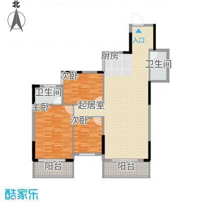 桂林独秀苑122.00㎡13栋C户型3室2厅2卫1厨