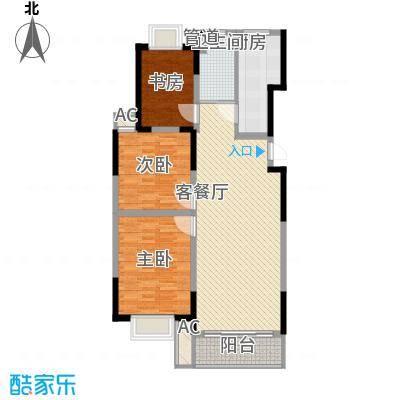 万润阳光丽景122.00㎡X/S/H三(室)户型3室2厅1卫1厨
