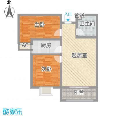 枫景华庭85.67㎡36911#栋户型2室2厅1卫