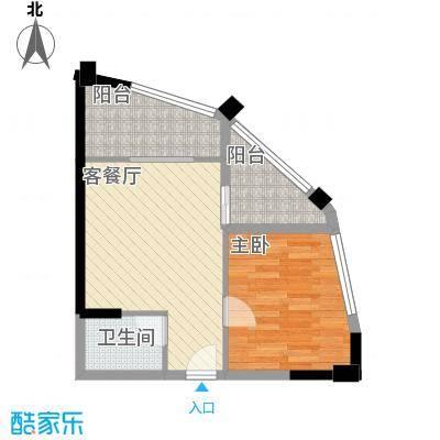 龙旺伯乐佳园64.74㎡A4户型