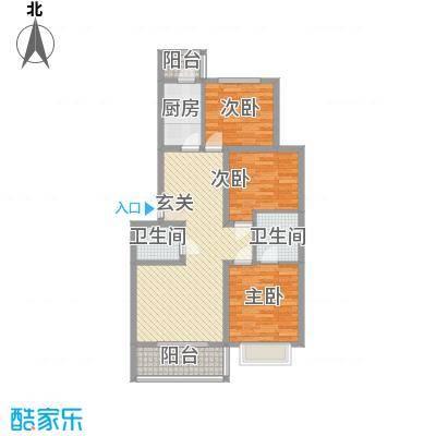 江泉・富力城11.00㎡C户型3室2厅2卫