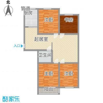 瑞和园123.13㎡标准层B2户型3室2厅1卫1厨