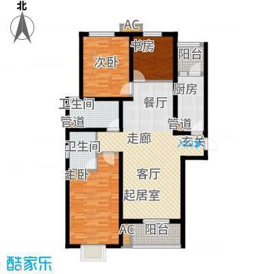 恒嘉・拉德芳斯本世家143.62㎡17号楼A1户型3室2厅2卫1厨