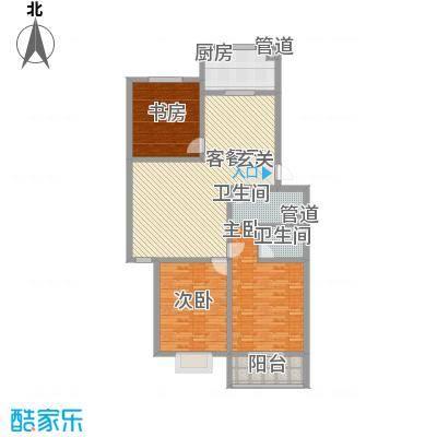 远实凤凰城116.10㎡D标准层户型3室2厅2卫1厨