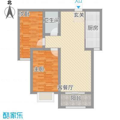 城市西景生活私署户型3室2厅1卫1厨