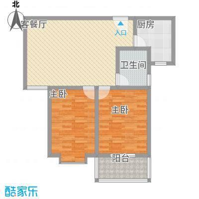 广星源2.33㎡B户型2室2厅