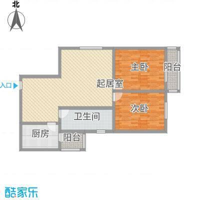 锦江花园115.63㎡4#户型2室2厅2卫1厨
