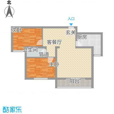 美意苑B1B2户型2室1厅1卫1厨