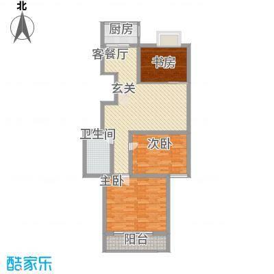 万和公寓13.50㎡标准层B户型3室2厅1卫1厨