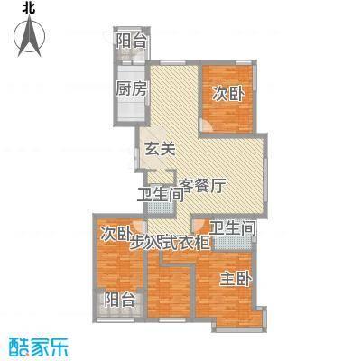 荣盛锦绣花苑16.67㎡8#9#C户型4室2厅2卫1厨