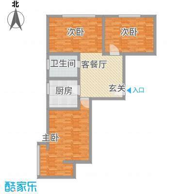 祥丰大厦132.00㎡标准层A1户型3室2厅2卫1厨