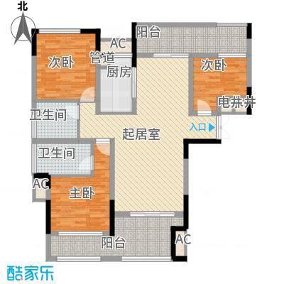 宣佳世纪嘉园116.50㎡07#C1户型3室2厅2卫1厨