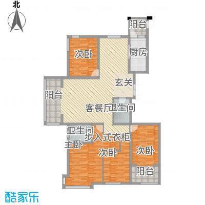 荣盛锦绣花苑18.70㎡8#9#标准层A户型4室2厅2卫2厨