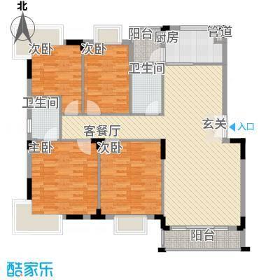 滨江相府户型4室2厅2卫