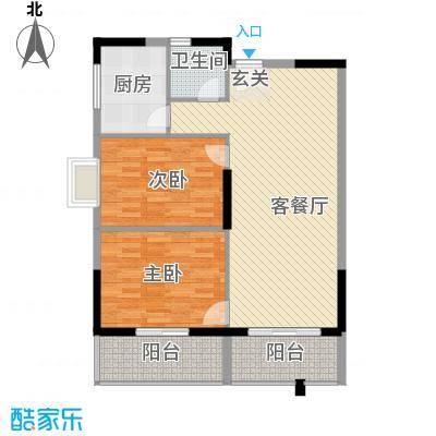桂林日报社小区滨江国际3.00㎡10栋B户型2室2厅1卫1厨