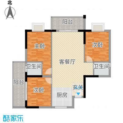 桂林日报社小区滨江国际116.80㎡9栋C户型3室2厅2卫1厨