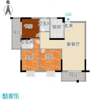 桂林日报社小区滨江国际13.00㎡9栋A户型3室2厅2卫1厨