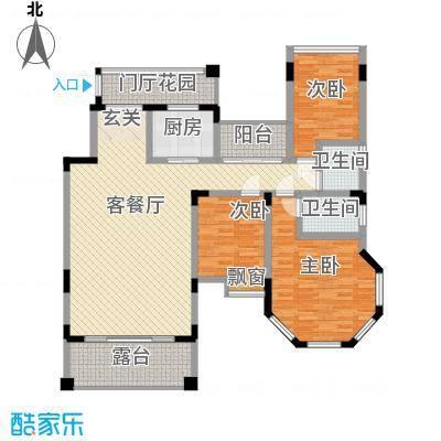 龙湾上和城167.00㎡1#-8#C7户型3室2厅2卫1厨