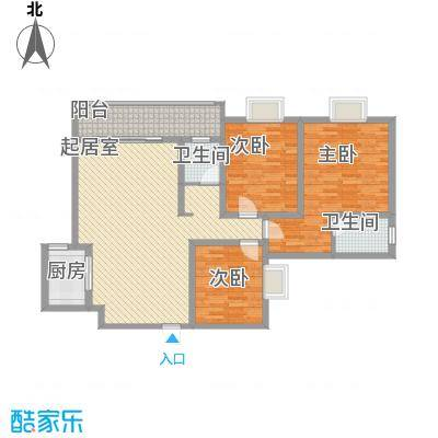 漓水书香124.30㎡15#2户型3室2厅2卫1厨