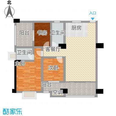 华鼎雍王府126.10㎡L户型3室2厅2卫1厨