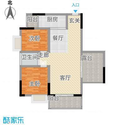 中糖大城小院5.76㎡1#楼B户型