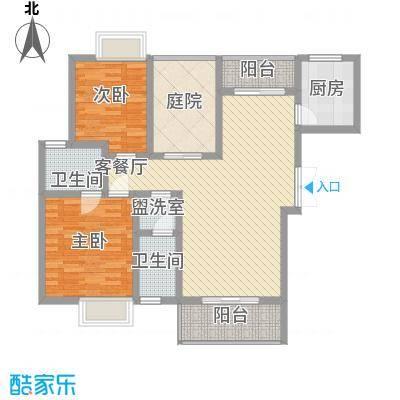 中糖大城小院11.50㎡4#B1户型2室2厅2卫