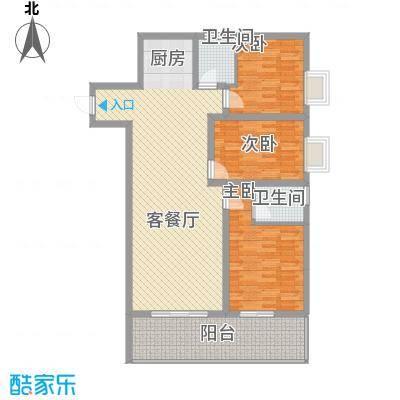新城国际63.30㎡一期C7户型2室2厅2卫1厨