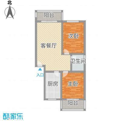 古镇庭苑85.30㎡D户型3室2厅1卫1厨