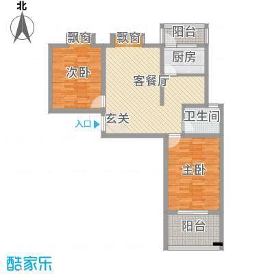 东方・海逸豪园14.11㎡一期C#楼C4户型2室2厅1卫